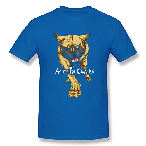 Alice In Chains20 Men's Short Sleeve T-Shirt Rock Quick-Drying tee Blue L