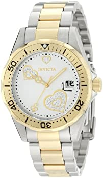 Invicta Women s Angel 38mm Steel and Gold Tone Stainless Steel Quartz Watch Two Tone  Model  12287
