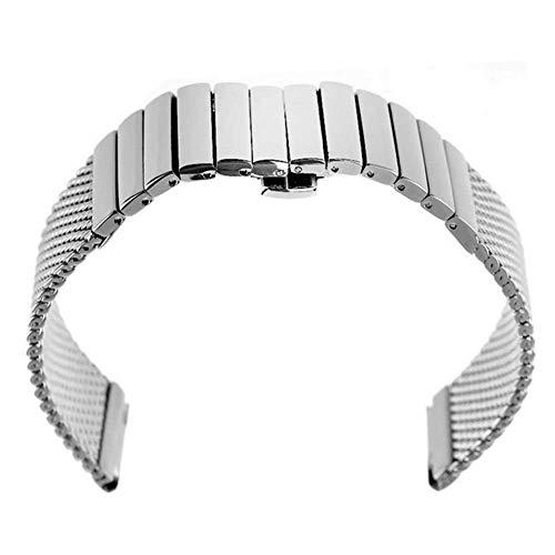Bandas de Reloj, Banda de Reloj 18 mm 20 mm 22 mm 24 mm Malla de Acero Inoxidable sólido Banda de Reloj Pulsera de Hombre Pulsera Deportiva Pulsera Pulsera Reloj reemplazo ## 11