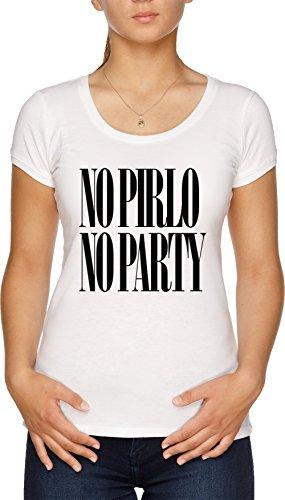 No Pirlo No Party Camiseta Mujer Blanco