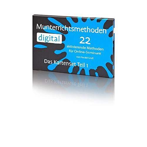 Munterrichtsmethoden digital: 22 aktivierende Methoden für Online-Seminare von Harald Groß: 22 handliche Postkarten im Set