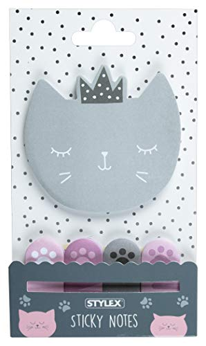 "Stylex 31299"" Cat Collection Haftnotiten-Set, bunt"