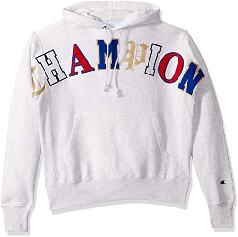 Champion Life Men s Reverse Weave Pullover Block Logo Gfs Silver Grey Y07986 X Large product image