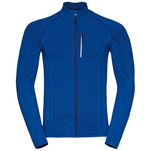 Odlo Velocity Blouson Homme, Directoire Blue/Estate Blue, FR : M (Taille Fabricant : M)