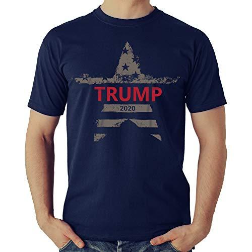 Trump T Shirt - Donald Trump Campaign 2020 Tee Shirt - Keep America Great - Presidential Election Tshirt (Navy, X-Large)