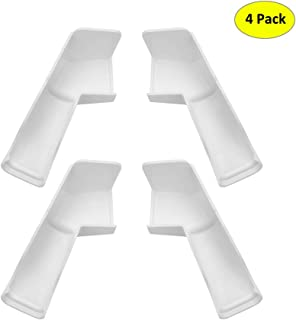 RV Gutter Spouts - Rigid RV Gutter Extenders, Directs Rainwater Away from Your RV, Long Version Extended RV Rain Gutter Spouts for Trailer Camper Motorhome Toy Hauler (2 Left +2 Right, White)