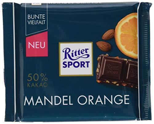 Ritter SPORT Ritter Sport 100g Mandel Orange, 1er Pack (1 x )