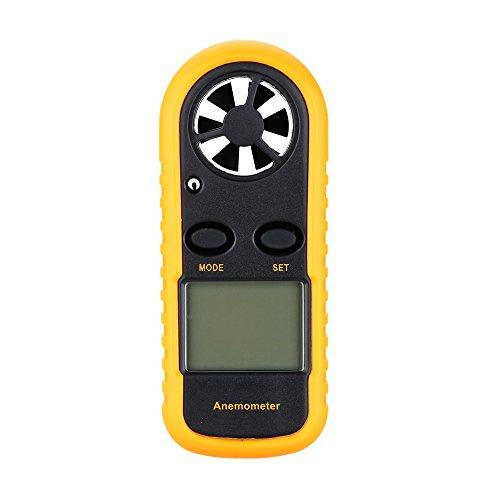 Anemómetro medidor de velocidad del viento de mano Kkmoon GM 816. Termómetro...