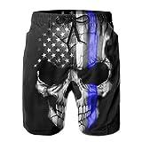 UNIQUE Pants American Thin Blue Line Flag Skull Men's Quick Dry...