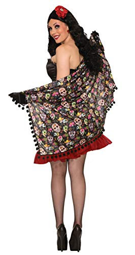Forum Novelties Day of The Dead Skull Costume Shawl