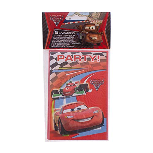 Manège - 6 Cartes D'Invitation Cars