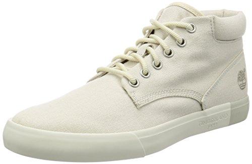 Timberland Herren Newportbay 2.0 Canvas Chukka Fashion Sneaker, Elfenbein (Leinwand, Motiv Rainy Day), 41 EU