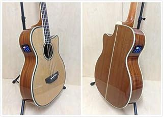 Haze 4/4 Size 4-String Electric-Acoustic Bass Guitar, Natural + Free Gig Bag FB-711BCEQ/N