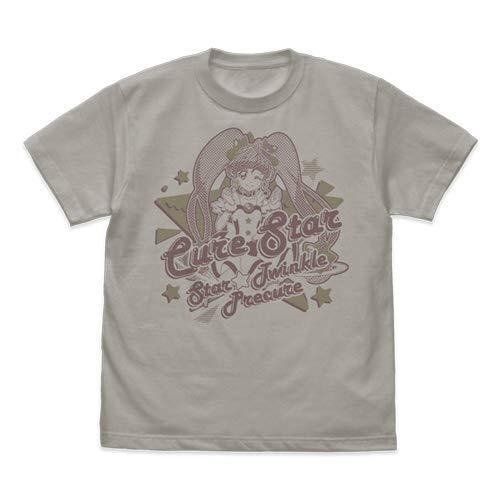 スター☆トゥインクルプリキュア キュアスター Tシャツ ライトグレー Sサイズ