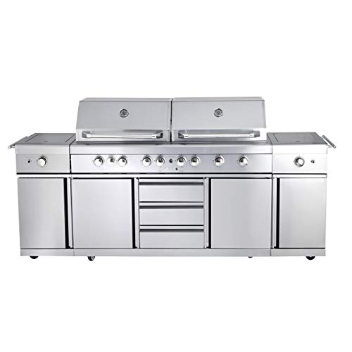 Allgrill Top-Line Extrem Gasgrill Volledelstahl Outdoor Küche