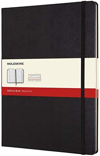 Moleskine Adressbuch (Xlarge, Liniert, Hard Cover, Alphabetisches Register) schwarz