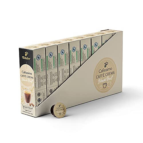 Tchibo Cafissimo Vorratsbox Caffè Crema Blonde Roast Edition Kaffeekapseln, 80 Stück (10x8 Kapseln), nachhaltig & fair gehandelt, Premium Qualität
