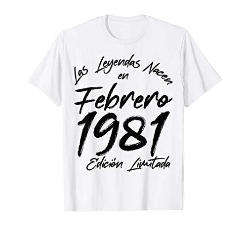 Nacido En Febrero 1981 40 Años Cumpleaños Regalo De 40 Años Camiseta