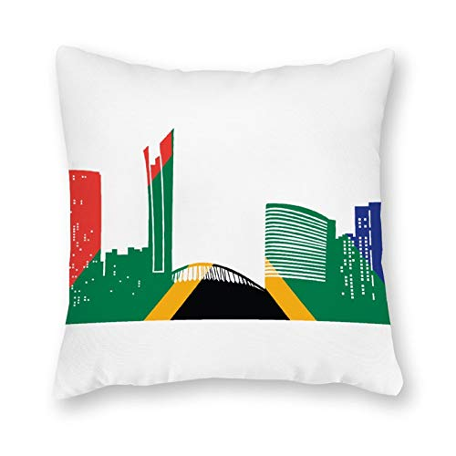 qidushop Durban - Funda de almohada de lona para sofá o dormitorio (45,7 x 45,7 cm)