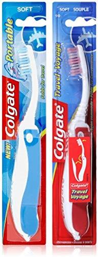 Colgate - Cepillo de dientes suave plegable, colores