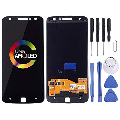 ZHANGHUI Repare Repuestos Pantalla LCD y ensamblaje Completo del digitalizador for Motorola Moto Z Droid XT1650-01 XT1650-03 (Negro) Partes de refacción (Color : Black)