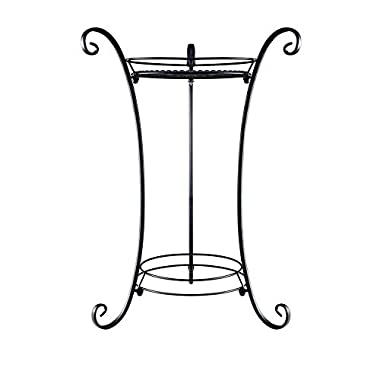 AISHN Classic Finial Plant Stand/Plant Stand with Finial (Black)