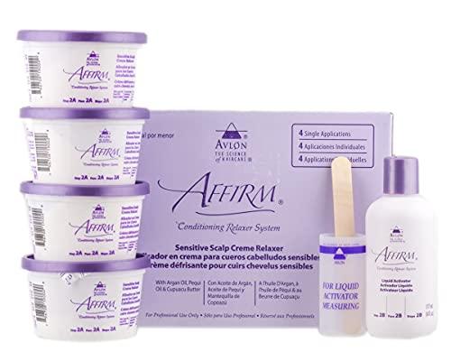 Avlon Affirm Sensitive Scalp Relaxer 4 Pack