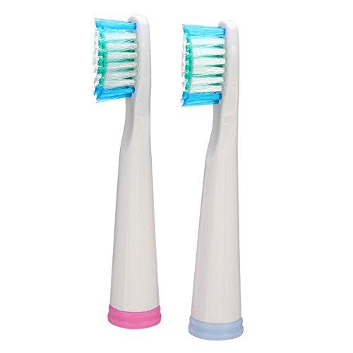 Bluelover 2 stuks universele vervangende elektrische tandenborstel kop voor Seago