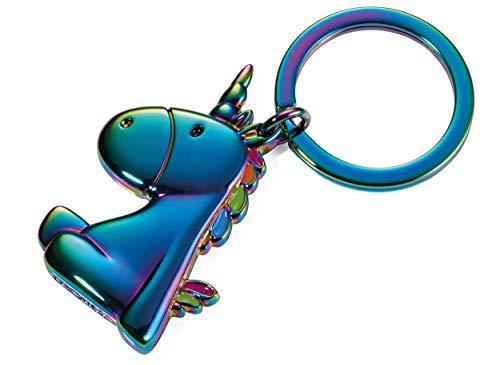 TROIKA Llavero Unicornio – KR17 – 08/MC – Unicornio – Coloración arcoíris – Efecto burbujas – Metal fundido esmaltado Original