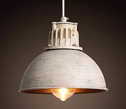 Hanglamp, vintage, retro, ijzer, industriële deksel, eenvoudige deksel, wit, kleur roest, 205 x 160 mm, restaurant decoratie,