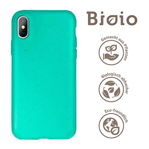 FOREVER Hülle Kompatibel mit iPhone X/XS, Schutzhülle aus Biologisch Abbaubar Materialien, Bio Case Anti-Kratz, Stoßfestes Bumper, Umweltfreundliche Handyhülle, Rückseite Cover