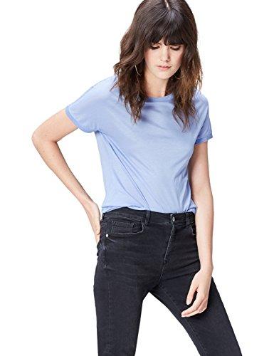 find. camiseta con cuello redondo Mujer, Azul (Chambray Blue