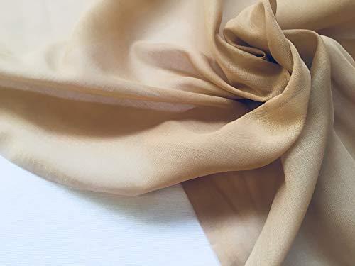 Beige Muslin Stof sheer voile fijne kaas doek katoen voor gordijnen, dressmaking, bruiloft decoratie - 300cm EXTRA breed