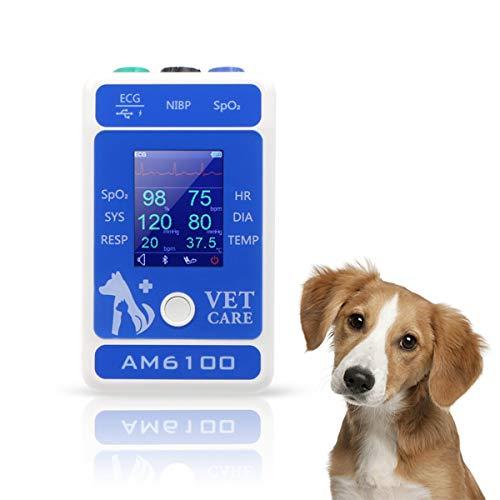 QNMM Monitor Veterinario para Mascotas, Veterinario Monitor de Paciente Veterinario Equipo de Clínica Médica Veterinaria para Animales (Incluye Perros Y Gatos)