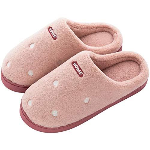 Sxuefang Zapatillas, Invierno Hogar Parejas Zapatos Cálidos Suave-Soled Interior Antideslizante