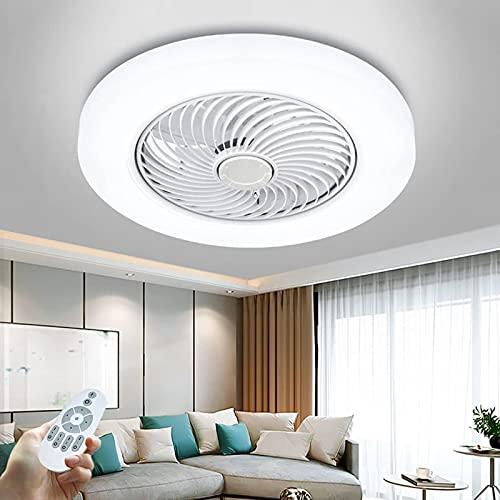 Luz de Techo con Ventilador LED, Ventilador de Techo Invisible de 36 W con iluminación Candelabro de Velocidad del Viento Ajustable Ultra silencioso Ventilador de Dormitorio para niños y niñas