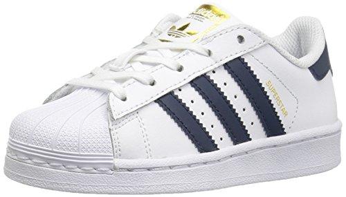 adidas Originals Superstar C, Zapatillas Unisex niños, Blanco Collegiate Armada Metálico Oro, 31.5 M EU Niño Pequeño