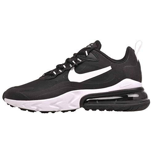 Nike Women's Air Max 270 React Casual Shoes (7.5, Black/White/Black)