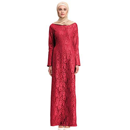 Storerine Muslimische Trompete Ärmel schlank langärmelige Mode Spitze bestickt Kleid LR162 Muslim Summer Bestickte Elegante Kleid
