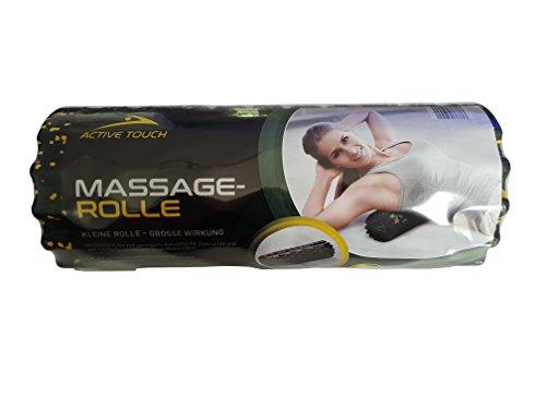 ACTIVE TOUCH Massage-Rolle, Faszien-Rolle für Fitness - löst Verspannungen, beugt Muskelkater vor - der perfekte Faszientrainer in verschiedenen Farben (Schwarz-Gelb)