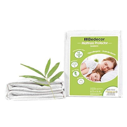 Bedecor-Protector de colchón Impermeable,Bambú,30 cm de Profundidad,Apto para la Piel,No Ruidoso e hipoalergénico - 150x190/200cm