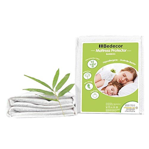 Bedecor-Protector de colchón Impermeable,Bambú,30 cm de Profundidad,Apto para la Piel,No Ruidoso e hipoalergénico - 135x190cm