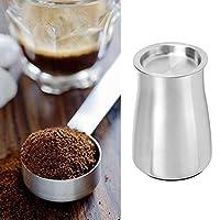 コーヒーファインパウダーふるいポット絶妙なデザインコーヒーパウダーふるいコンテナ家庭用コーヒーショップ用コーヒーアクセサリー(Silver)
