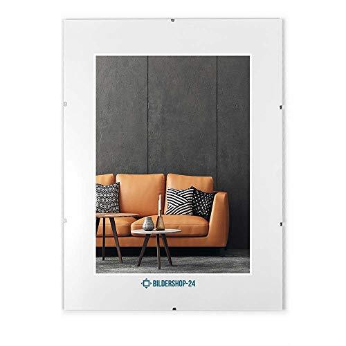 Rahmenloser Bilderrahmen Bildhalter Cliprahmen 21x29,7cm (DIN A4) Acrylglas