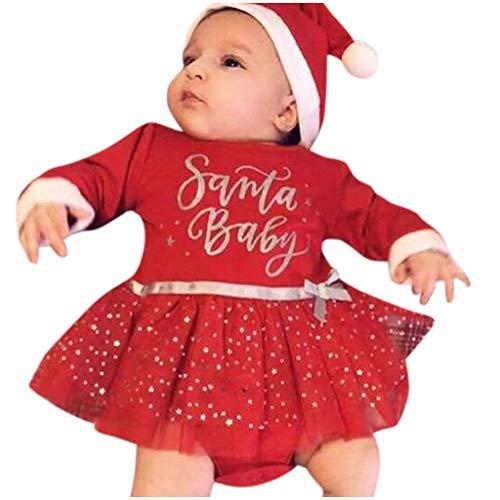 FRAUIT Natale Vestito Neonata Invernale Elegante Natalizio Natalizi Abito Bambina Elegante Manica Lunga Carnevale Abiti da Cerimonia per Ragazze Eleganti Vestiti Bambina per Battesimo
