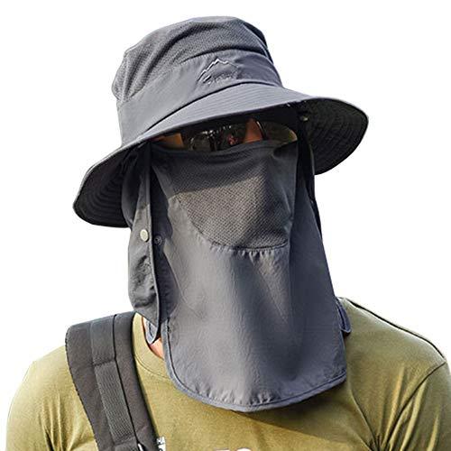 Panegy Cappello da Pesca Pieghevole Cappello da Sole Cappellino in Visiera Protezione UV Cappelli Estivi Uomo Donne da Safari Campagna Pesca