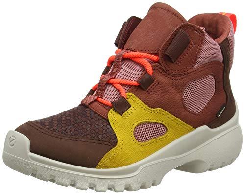 ECCO Xperfection Cholat Mgold Marsa Ankle Boot, Rot (Chocolat/Chocolat/MERIGOLD/Marsala), 30 EU