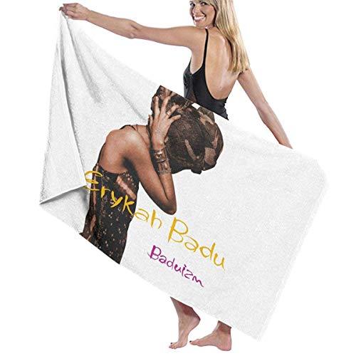 Ewtretr Toalla de Playa Bath Towel Erykah Badu Baduizm Bath Towels Super Absorbent Beach Bathroom Towels for Gym Beach SWM SPA Hotel Home Ideas Decoration