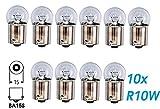 10x Stück – R10W - BA15S - 12V - 10W - KFZ Beleuchtung – Glühlampe Kugellampe Schluss- Kennzeichen- Park- und Positionslicht Glühbirne Soffitte Autolampen/chiavi