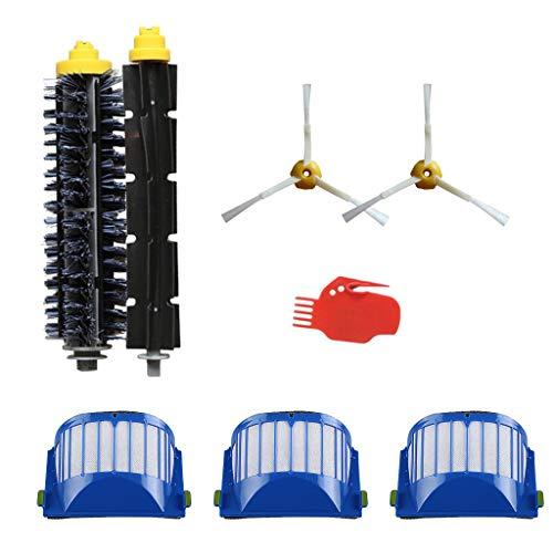 Wheel 500 600 700 800 900 Series Staubsauger-Ersatzteile, 3 x Filter + 2 x 3-armige Seitenbürste + 1 x Borstenbürste +1 x Flexible Schneebesenbürste + 1 x Reinigungswerkzeug